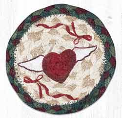 Winged Heart Braided Coaster
