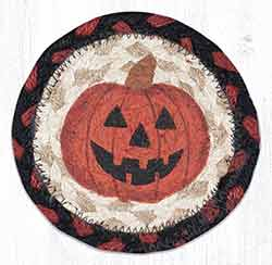 Jack-O-Lantern Braided Coaster