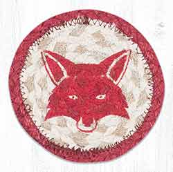 Fox Totem Braided Coaster