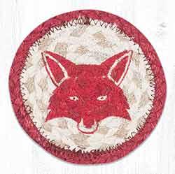 Fox Totem Braided Coaster