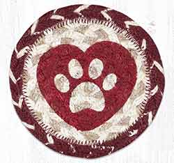 Heart Paw Braided Coaster