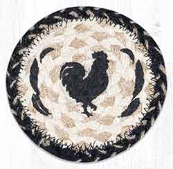 Rooster Feathers Braided Coaster
