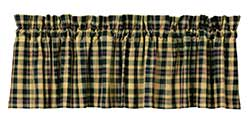 Tartan Black Plaid Valance