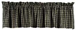 Cambridge Black Plaid Valance