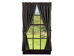 Cambridge Black Curtain Panels (84 inch)