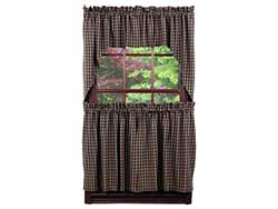 Cambridge Black Cafe Curtains (24 inch)