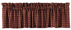 Cambridge Wine Plaid Valance