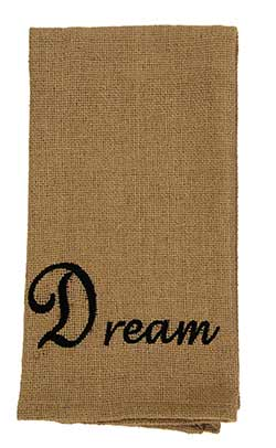 Dream Burlap Dishtowel