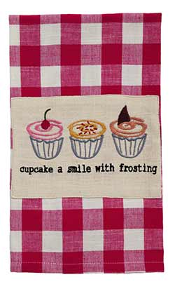 Cupcake Smile Dishtowel