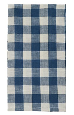 Picnic Blue Check Dishtowel