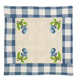 Blueberry Checked Tablemat
