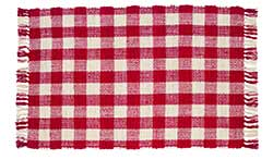 Picnic Red Check Woven Rug (24 x 42 inch)