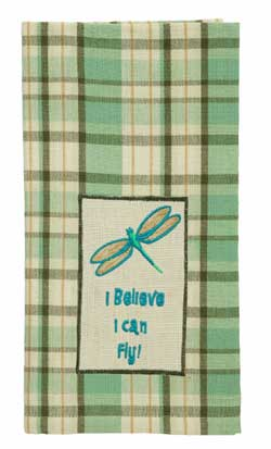 Robin's Egg Dishtowel - Dragonfly
