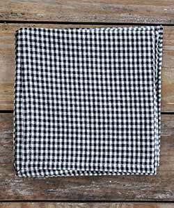Black and White Checked Napkins (Set of 4)