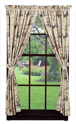 Market Street (formerly IHF - India Home Fashions) French Postcard 84 inch Panels