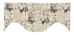 French Postcard Scalloped Valance