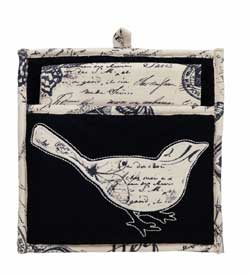 French Postcard Pot Holder Set
