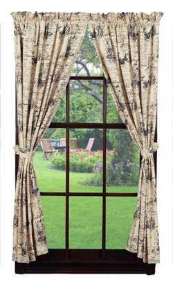 French Postcard Drapes (84 inch)