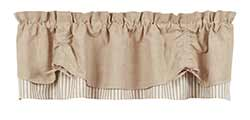 Market Street (formerly IHF - India Home Fashions) Au Natural Valance - Scalloped Layered