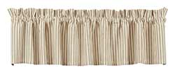 Market Street (formerly IHF - India Home Fashions) Au Natural Striped Valance