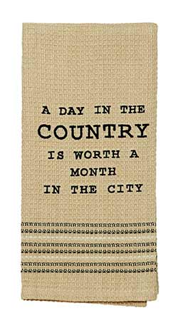 Olivia's Heartland (formerly IHF - India Home Fashions) A Day in the Country Dishtowels (Set of 2)