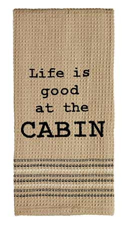 At the Cabin Dishtowel