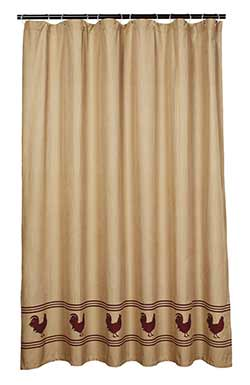 Market Street (formerly IHF - India Home Fashions) Red Rooster Shower Curtain