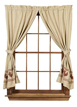 Market Street (formerly IHF - India Home Fashions) Red Rooster Short Panels