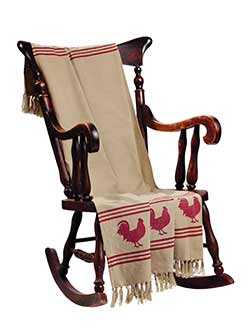 Red Rooster Throw Blanket