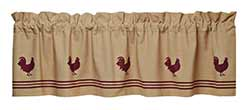 Market Street (formerly IHF - India Home Fashions) Red Rooster Valance