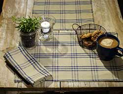 Cottonwood Blue Plaid 36 inch Table Runner