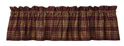 Chelsea Red Plaid Valance