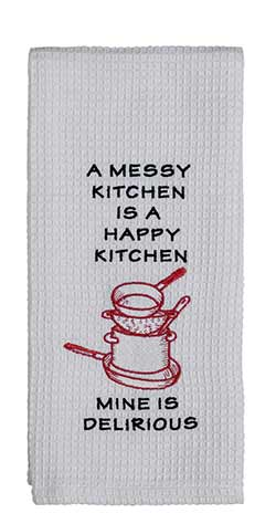 Messy Kitchen Dishtowel