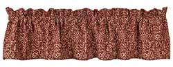 Evelyn Wine Floral Valance