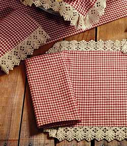 Market Street (formerly IHF - India Home Fashions) Ava Wine Check Napkin