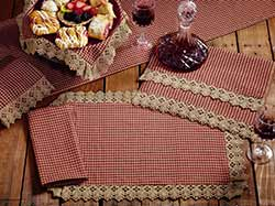 Market Street (formerly IHF - India Home Fashions) Ava Wine Check Placemat