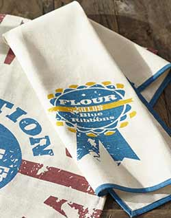 Blue Ribbon Flour Dishtowel