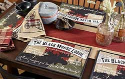 Black Moose Lodge Placemats (Set of 4)