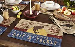 Bait N' Tackle Placemats (Set of 4)