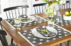 Stargazer Charcoal Placemats (Set of 4)