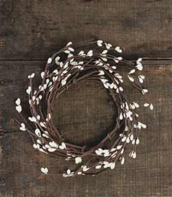 Ivory Pip Berry Candle Ring - 3.5 inch