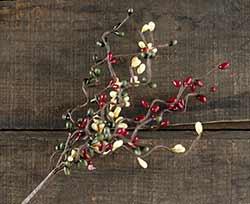 Burgundy, Olive, & Cream 12 inch Pip Berry Spray
