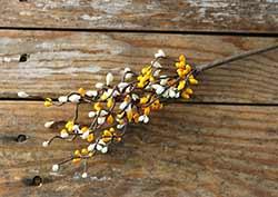Yellow & Cream 12 inch Pip Berry Spray