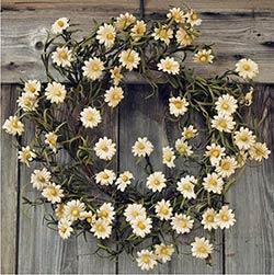 Teastain Daisy Wreath