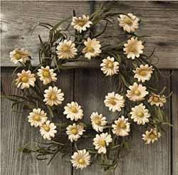 Teastain Daisy 12 inch Wreath