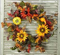 Harvest & Sunflower Gourd Wreath