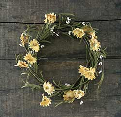 Tea Stained Daisy & Pip Berry 12 inch Wreath