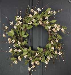 Teastain Gardenia & Twig Wreath