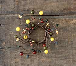 Primitive Berry Candle Ring - 2 inch
