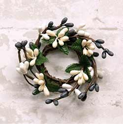 Gray, Ivory, & Cream Pip Berry Ring - 1 inch